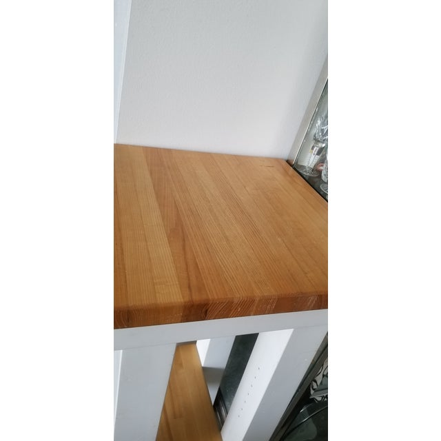 Late 20th Century Small Butcher Block Tall Bar/ Island Table For Sale - Image 5 of 9