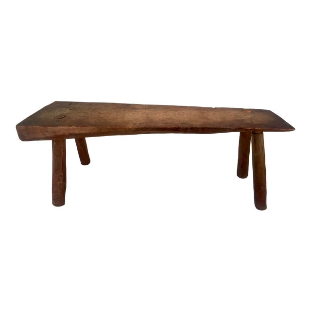 Antique Primitive Live Edge Coffee Table For Sale