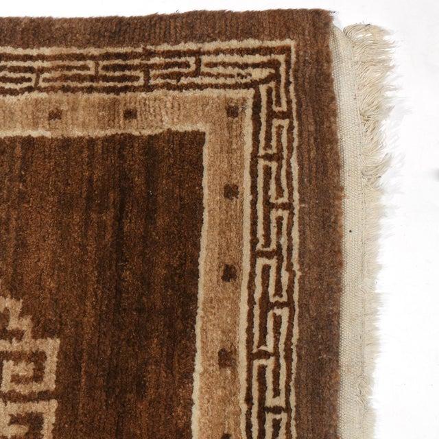 Chocolate Brown Mongolian Throw Rug- 2′9″ × 5′6″ For Sale - Image 4 of 5