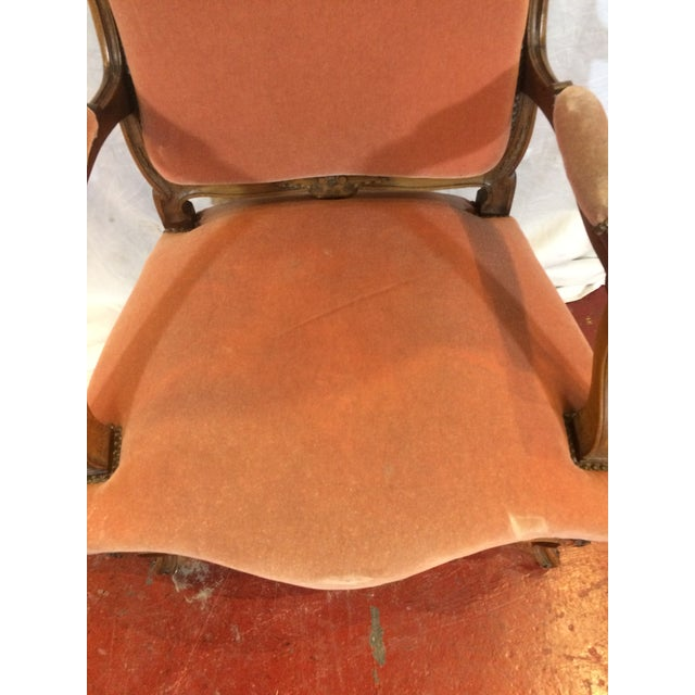 Pink Louis XV Style Arm Chairs - a Pair For Sale - Image 8 of 11