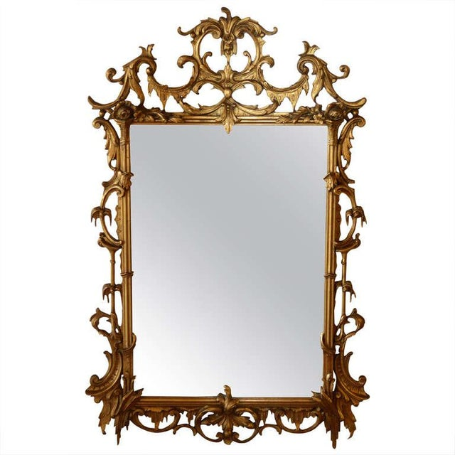 Gold Early 20th Century Vintage Rococo Style Gilded Mirror For Sale - Image 8 of 8