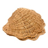 Image of Vintage Wicker Clam Basket For Sale