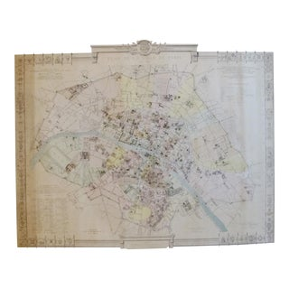 Original 1887 Map of Paris