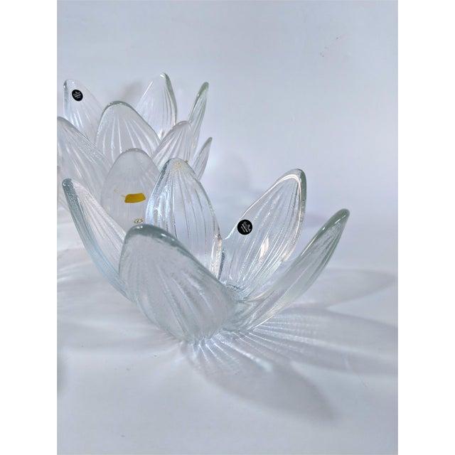 1970s Rosenthal Studio Line Bleikristall German Glass Flower Petal Bowls - Set of 10 For Sale - Image 5 of 13