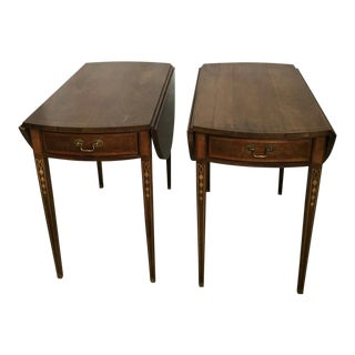 American Masterpiece Collection by Hickory Round End Tables - a Pair For Sale