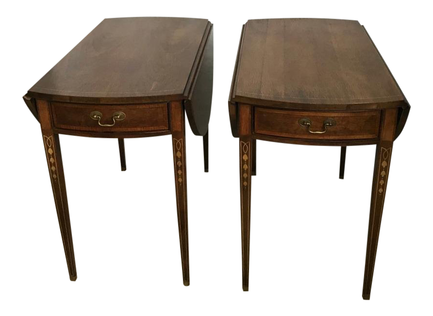 American Masterpiece Collection By Hickory Round End Tables   A Pair For  Sale