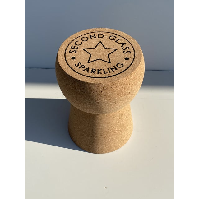 Champagne cork side table or stool. Made of natural unfinished Portuguese cork and can be used as side table or stool....