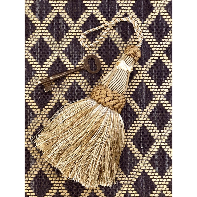 Key Tassel in Khaki and Bronze With Ruche Trim For Sale - Image 9 of 10