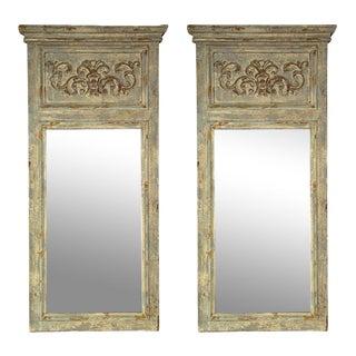 Swedish Gustavian Style Trumeau Mirrors - A Pair