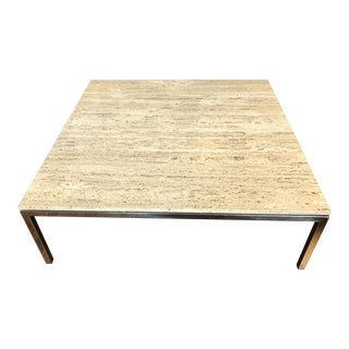 1960s Mid-Century Modern Knoll Marble Coffee Table