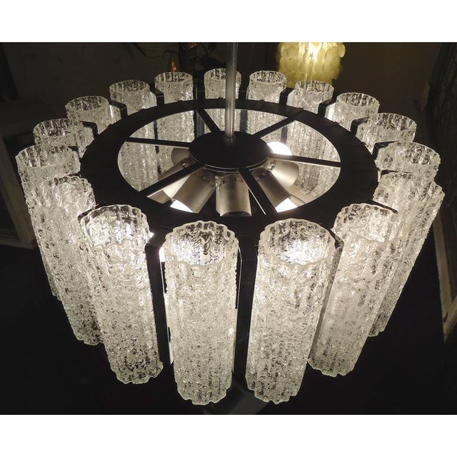 Round Chandelier With Crackle Glass For Sale In New York - Image 6 of 8
