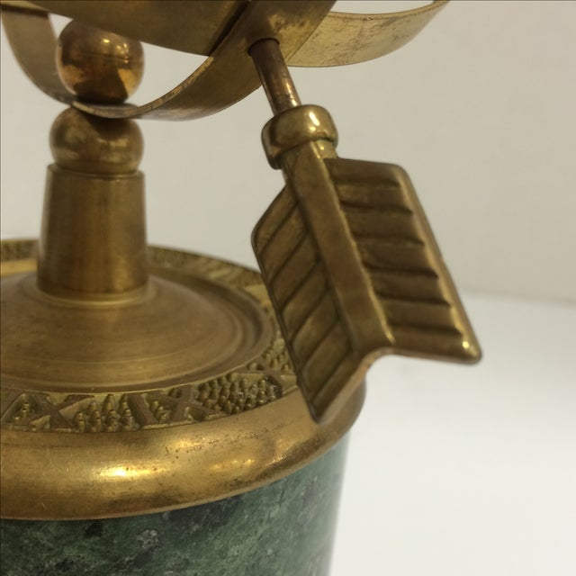 Vintage Brass and Marble Armillary - Image 9 of 10