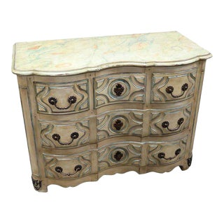 Regency Style Distressed Paint Decorated Commode For Sale