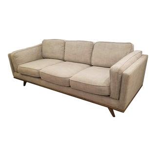 Gray & Beige Down Stuffed Sofa