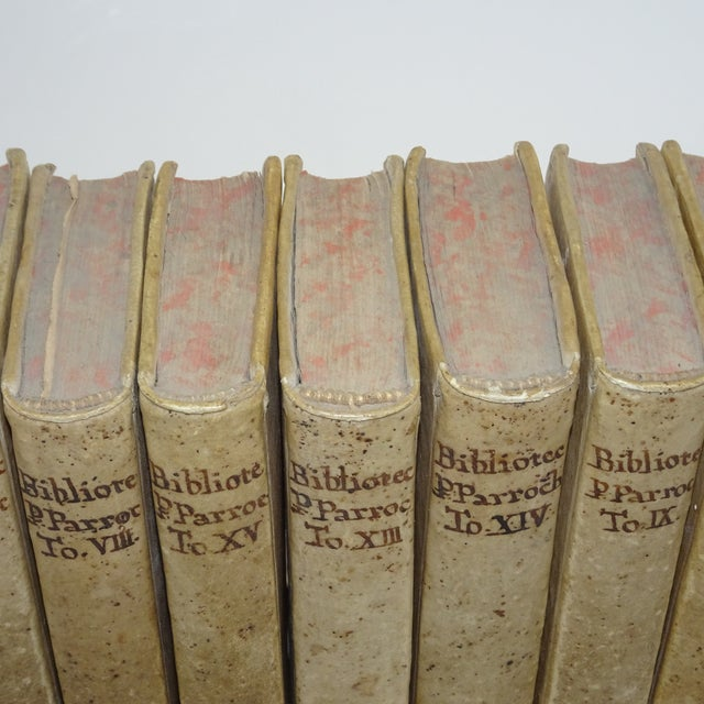 Vintage Traditional Vellum Books - Set of 11 Volumes For Sale - Image 4 of 7