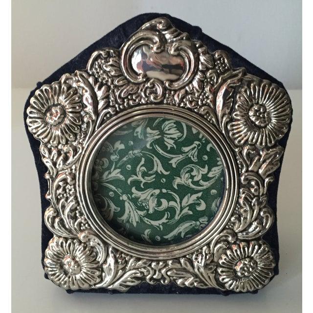 Vintage Silver Ornate Velvet Back Frame - Image 6 of 6