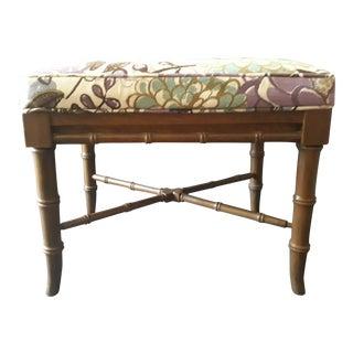 Chinese Bamboo Upholstered Stool