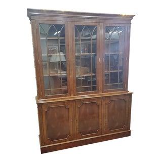 Mid Century Mahogany Display Cabinet For Sale