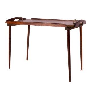 1960s Scandinavian Aase Mobler Teak Tray Table For Sale
