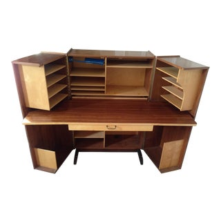 "Mummenthaler & Meier Walnut ""Magic Box"" Folding Desk"