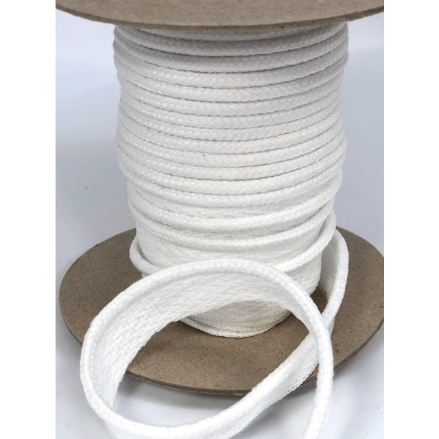 """Braided 1/4"""" Indoor/Outdoor Cord in Bright White For Sale In New York - Image 6 of 8"""