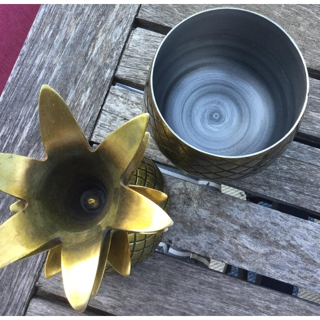 Brass Pineapple Taper Holders - Set of 3 For Sale In Wichita - Image 6 of 10