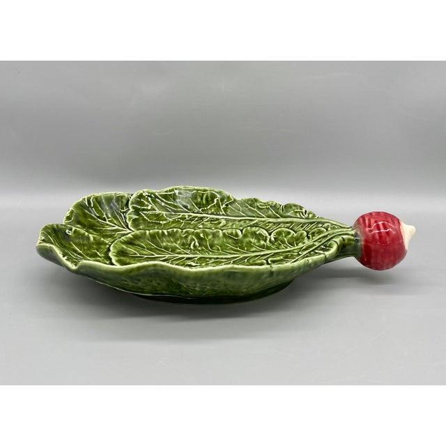 Late 20th Century 20th Century Majolica Radish Vegetable Platter/Dish For Sale - Image 5 of 10
