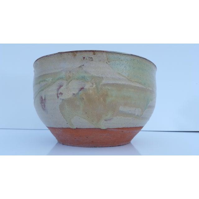 Green Vintage Drip Glaze Fat Lava Planter Pot . For Sale - Image 8 of 8