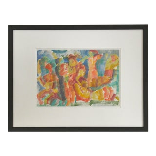 Jennings Tofel Expressionist Figures in Watercolor, Framed, Early 20th Century For Sale