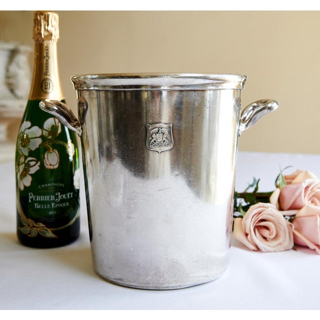 Very rare 1920s large silver plate champagne bucket from the famous Hotel Ambassador in Los Angeles, California. The...