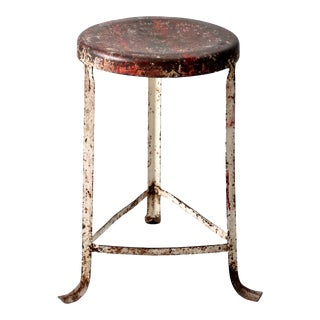 Vintage Industrial Stool For Sale
