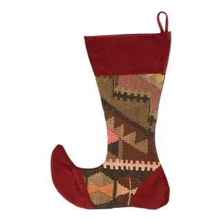 Large Kilim Christmas Stocking | Sleigh