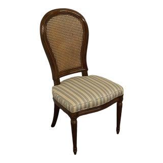 Henredon Furniture Italian Provincial Cane Back Side Chair For Sale