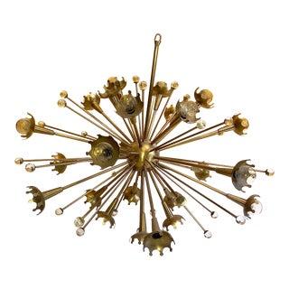 Brass Sputnik Chandelier by Jonathan Adler For Sale