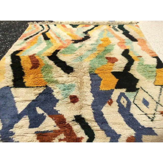 Textile Multi-Color Moroccan Rug - 8′3″ × 11′5″ For Sale - Image 7 of 8