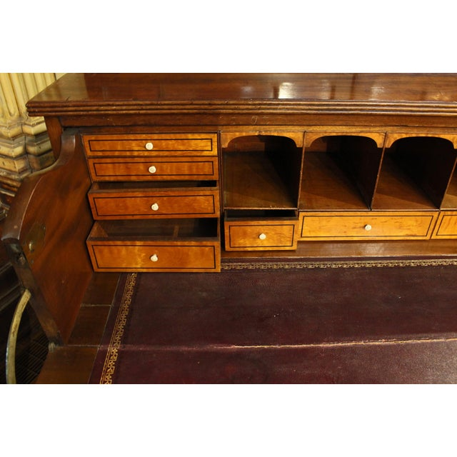 Wood 18th Century George III Bookcase Secretaire For Sale - Image 7 of 9