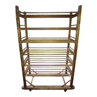 Antique Shoe Factory Drying Wood Rack For Sale