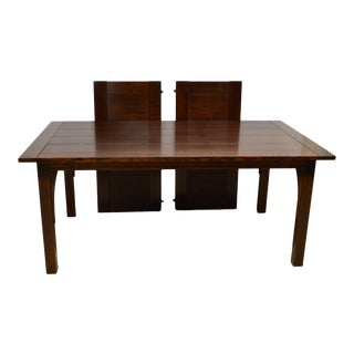 Stickley Mission Style Oak Dining Table With Two Leaves
