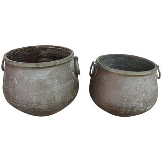 20th Century Traditional Bronze Jardineres - a Pair For Sale