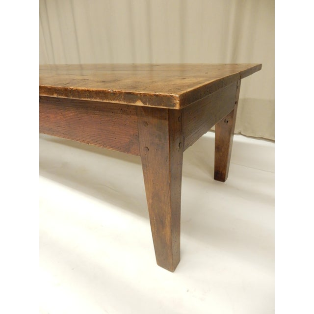 19th C. French Walnut Farm/Coffee Table For Sale - Image 4 of 6