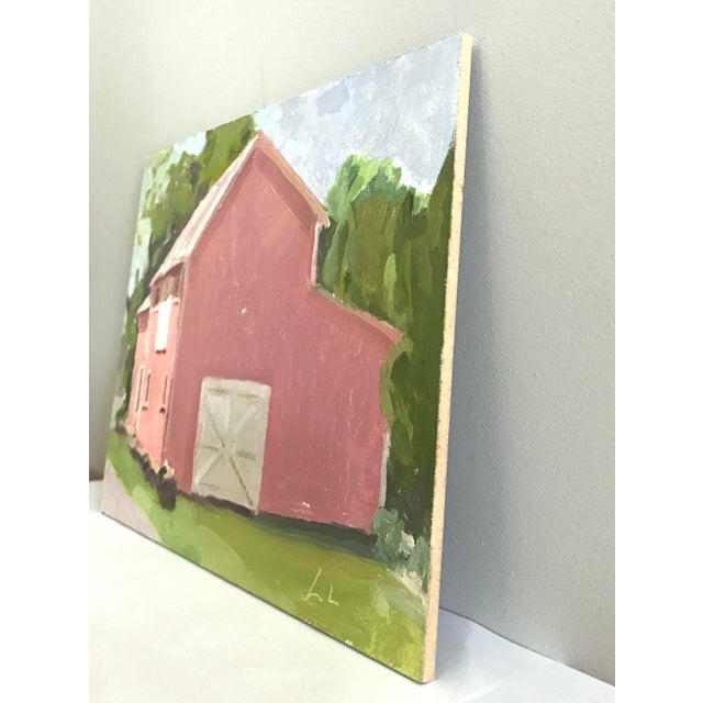 Pink Barn Upstate - Original Oil Painting by Caitlin Winner - Image 3 of 4