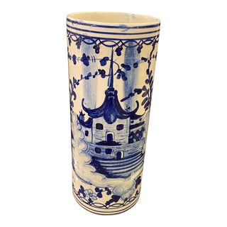 1960s Vintage Chinoiserie Pagoda Umbrella Stand For Sale