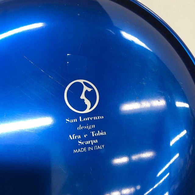 Metal Set of Italian Decorative Plates by Afra E Tobia Scarpa San Lorenzo Design For Sale - Image 7 of 10