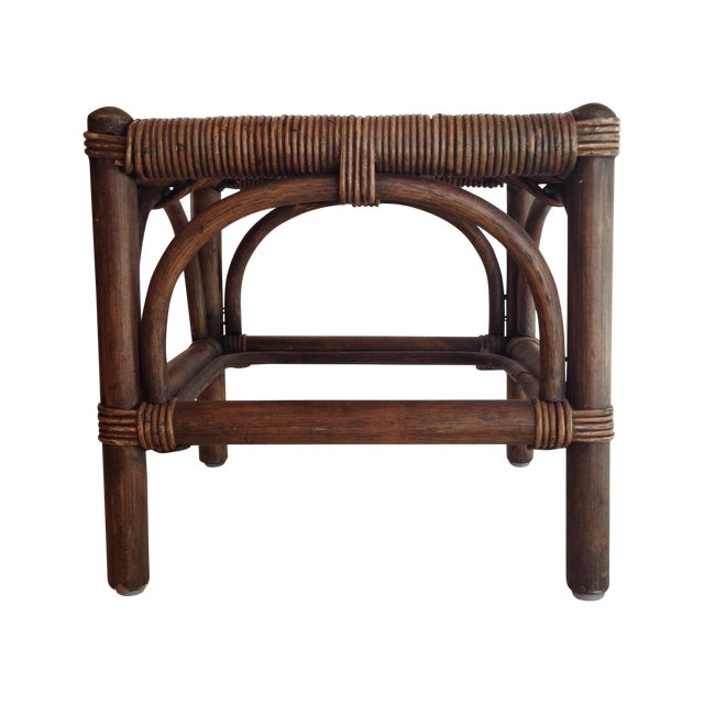 Cane & Wicker Stool - Image 1 of 4