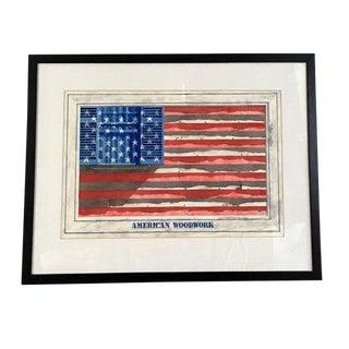 "Americana Original Watercolor, ""American Woodwork"" by Geoff Huntingford For Sale"