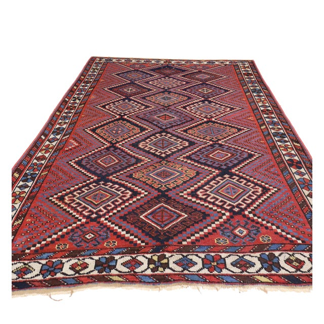 Tribal Antique Persian Afshar Rug with Modern Tribal Style, 4'3x6' For Sale - Image 3 of 6