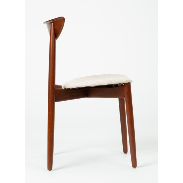 White 1960s Single Teak Dining / Accent Chair by Harry Østergaard for Randers Møbelfabrik For Sale - Image 8 of 13
