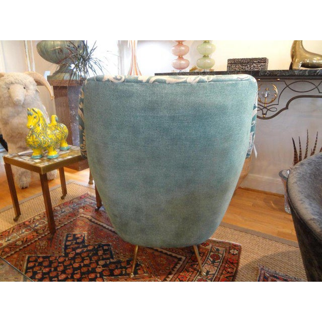 1960s Vintage Italian Gio Ponti Inspired Lounge Chairs- A Pair For Sale In Houston - Image 6 of 11