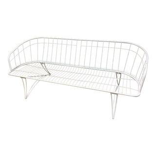 Mid Century Modern White Homecrest Metal Sofa