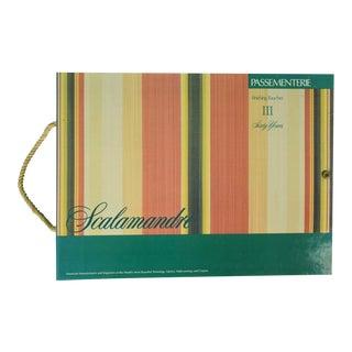 1990s Vintage Scalamandre Passementerie Tassel Swatch Book For Sale